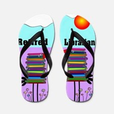 Retired Librarian Flip Flops