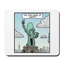 The Stat-shoe of Liberty Mousepad