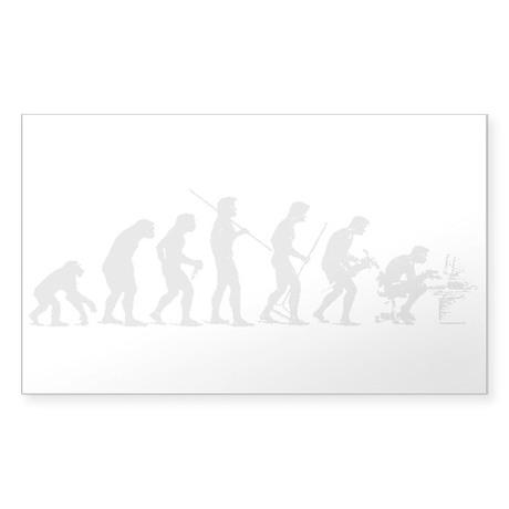 Geek Evolve Bumper Sticker Sticker (Rectangle)