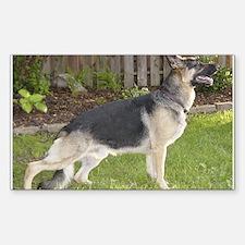 Franimals German Shepherd Rectangle Decal