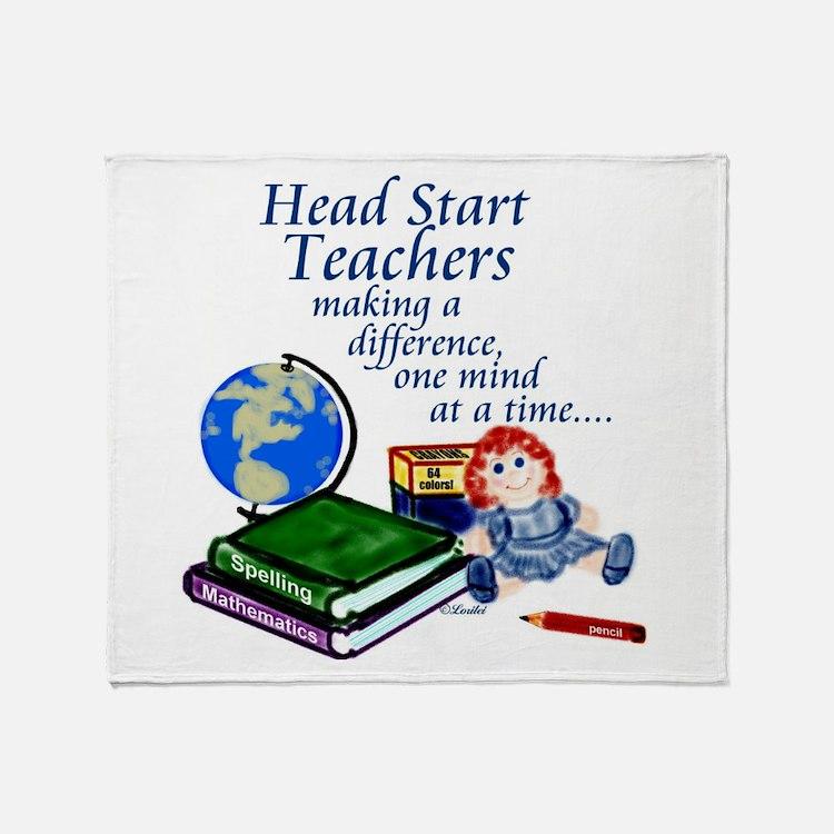 Cute Headstart teachers Throw Blanket