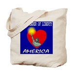 America Torchbearer of Libert Tote Bag