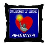 America Torchbearer of Libert Throw Pillow