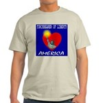 America Torchbearer of Libert Ash Grey T-Shirt
