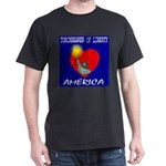 America Torchbearer of Libert Black T-Shirt