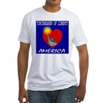 America Torchbearer of Libert Fitted T-Shirt