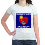 America Torchbearer of Libert Jr. Ringer T-Shirt