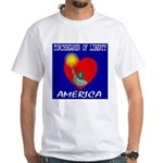America Torchbearer of Libert White T-Shirt