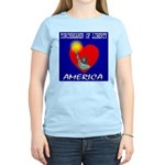 America Torchbearer of Libert Women's Pink T-Shirt