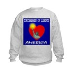 America Torchbearer of Libert Kids Sweatshirt