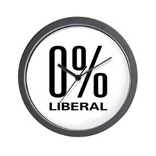 0% Liberal Wall Clock