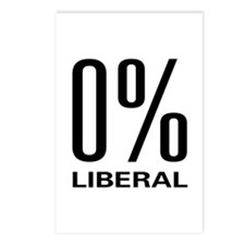 0% Liberal Postcards (Package of 8)