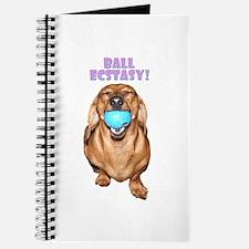 Ball Ecstesy Dachshund Dog Journal