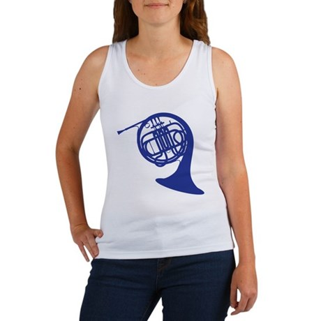 blue french horn Women's Tank Top