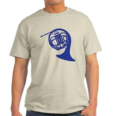 blue french horn Light T-Shirt