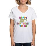 25th birthday Womens V-Neck T-shirts