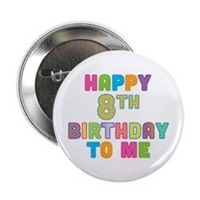 "Happy Birthday 8 2.25"" Button"
