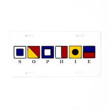 Nautical Sophie Aluminum License Plate