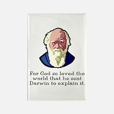 God Sent Darwin Evolution Rectangle Magnet