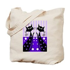 Whimsical Black Cats Tote Bag