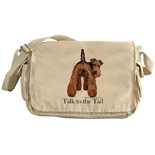 Airedale Terrier Talk Messenger Bag