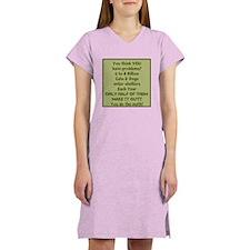 Animal Shelter Problems Women's Nightshirt