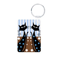 Whimsical Black Cats Keychains