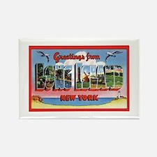 Long Island New York Greetings Rectangle Magnet