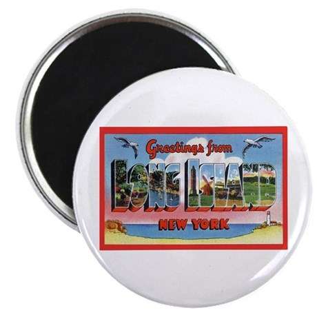 Long Island New York Greetings Magnet