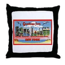 Long Island New York Greetings Throw Pillow