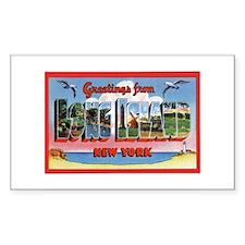 Long Island New York Greetings Sticker (Rectangula