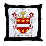 Van der Goude Coat of Arms Throw Pillow
