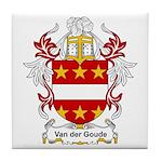 Van der Goude Coat of Arms Tile Coaster