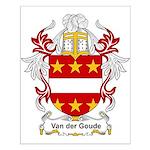 Van der Goude Coat of Arms Small Poster