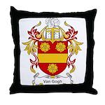 Van Gogh Coat of Arms Throw Pillow