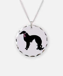 Irish Setter Breast Cancer Support Necklace