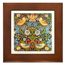 Strawberry Thief, Morris Framed Tile