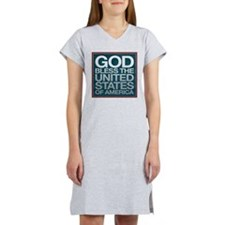 God Bless The USA Women's Nightshirt