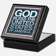 God Bless The USA Keepsake Box