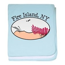 Fire Island Beach Dunes baby blanket