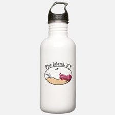 Fire Island Beach Dunes Water Bottle