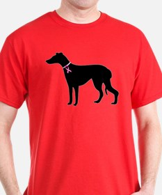 Greyhound Breast Cancer Support T-Shirt