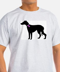 Greyhound Breast Cancer Supp T-Shirt