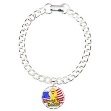 Welcome Home Daddy Charm Bracelet, One Charm
