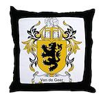 Van de Geer Coat of Arms Throw Pillow