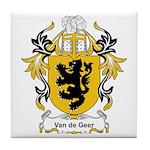 Van de Geer Coat of Arms Tile Coaster