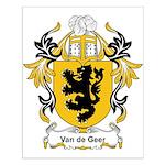 Van de Geer Coat of Arms Small Poster