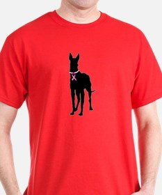 Great Dane Breast Cancer Support T-Shirt