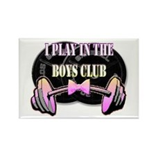 I play in the boys club Rectangle Magnet
