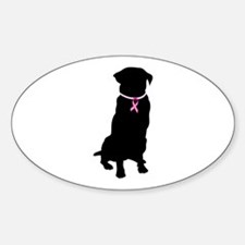 Golden Retriever Breast Cancer Support Decal
